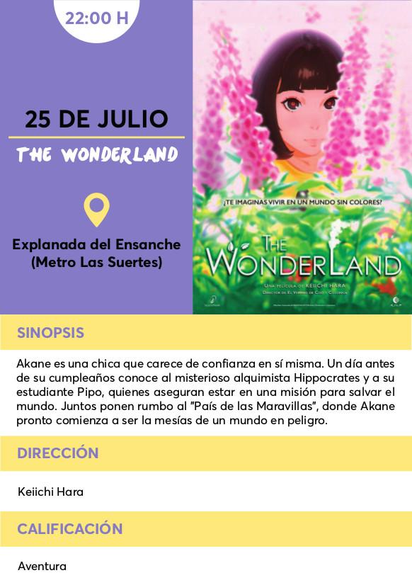 wonderland cine verano Vallecas