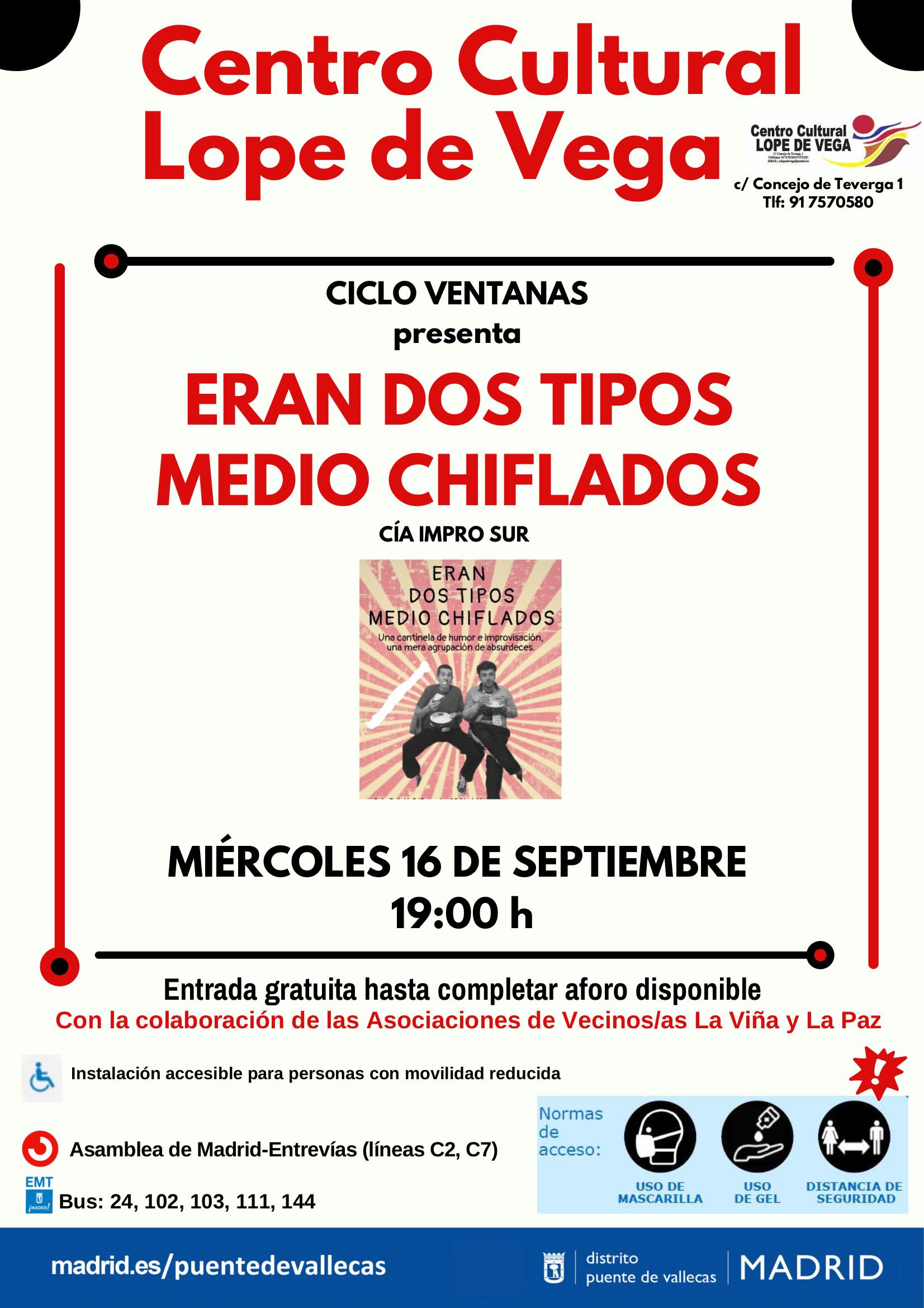 16´Septiembre - Eran dos tipos medio chiflados - Ciclo Ventanas _Vallecas