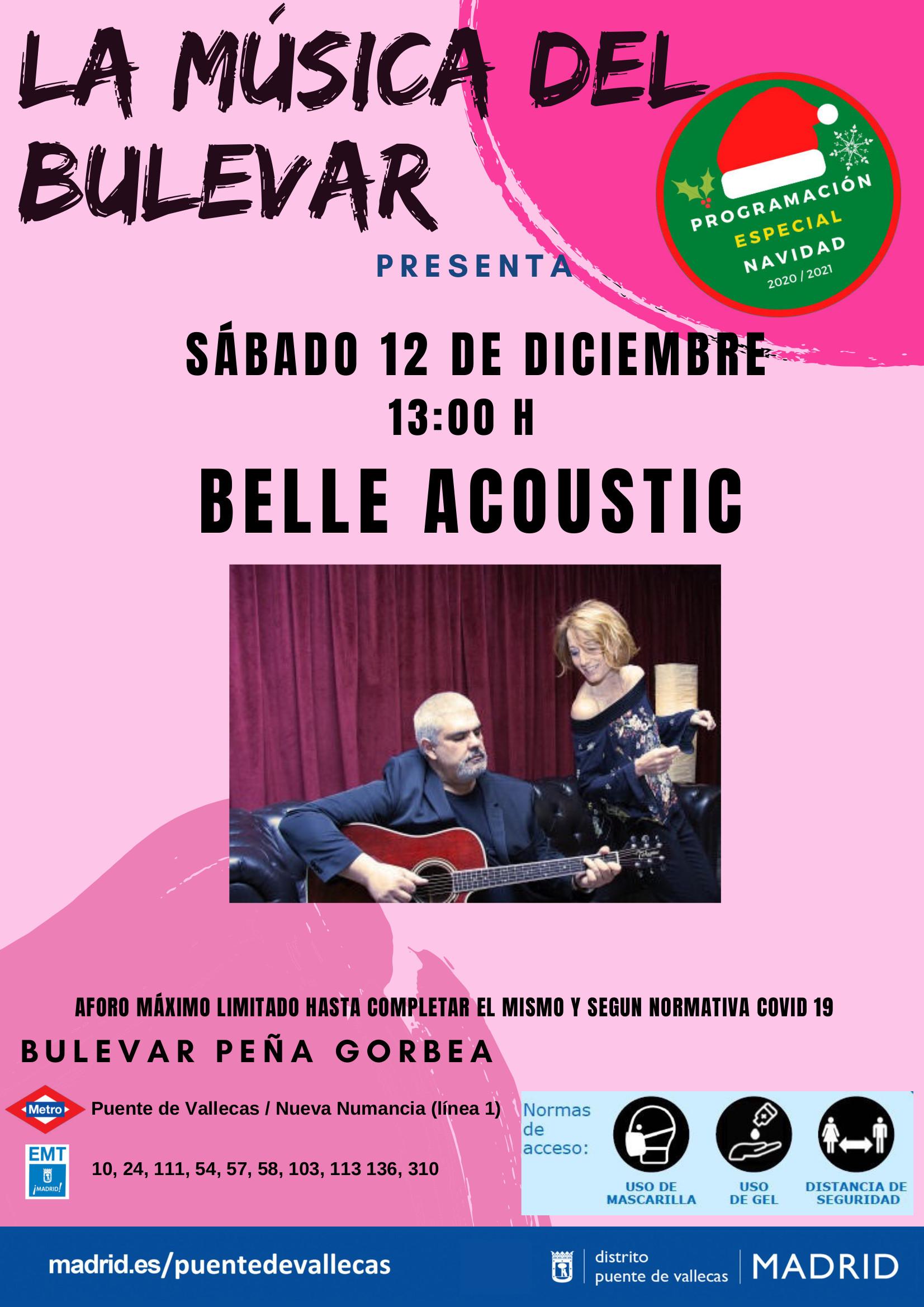 12´Diciembre - BELLE ACOUSTIC- Ciclo LA MUSICA DEL BULEVAR_Vallecas