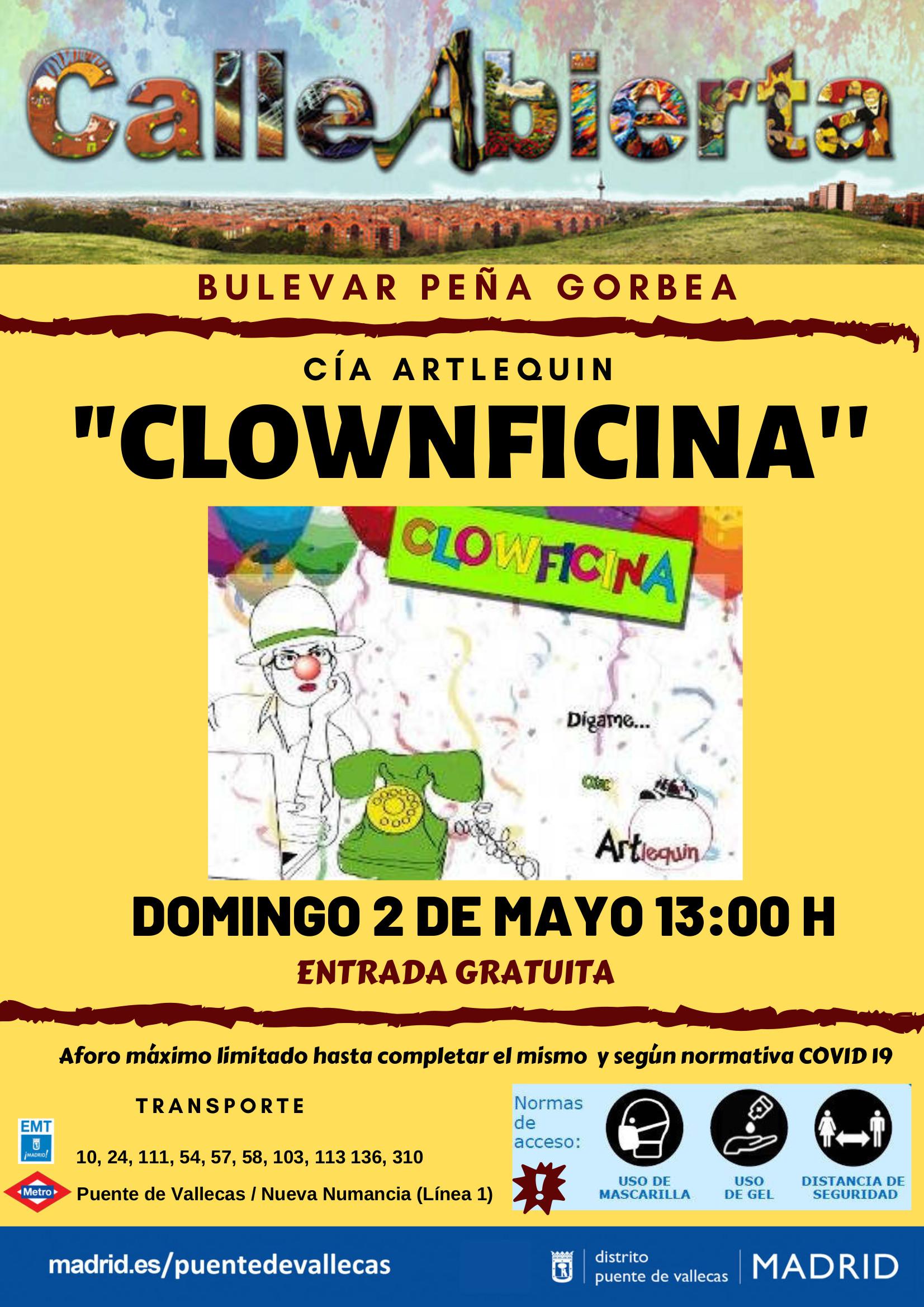 Clownficina bulevarte Vallecas