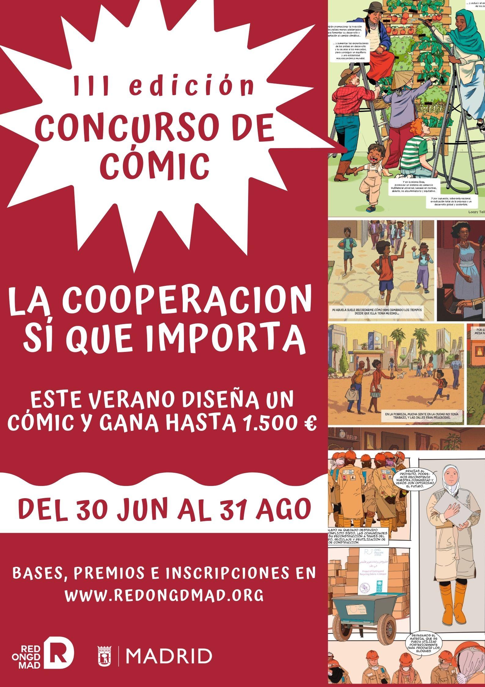 """III Edición concurso de cómic """"La Cooperación Sí que importa"""""""