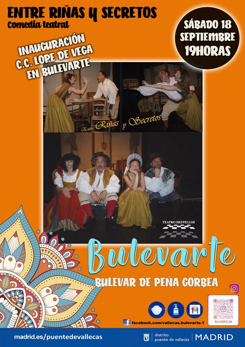 ENTRE RIÑAS Y SECretos teatro Vallecas